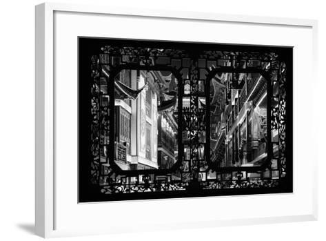 China 10MKm2 Collection - Asian Window - Traditional Architecture in Yuyuan Garden - Shanghai-Philippe Hugonnard-Framed Art Print
