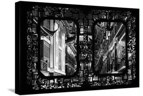 China 10MKm2 Collection - Asian Window - Traditional Architecture in Yuyuan Garden - Shanghai-Philippe Hugonnard-Stretched Canvas Print