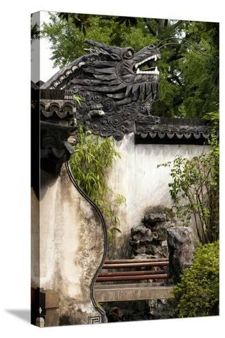 China 10MKm2 Collection - Chinese Dragon Head-Philippe Hugonnard-Stretched Canvas Print