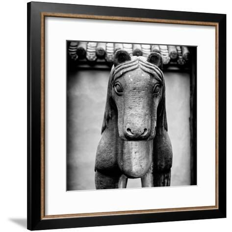 China 10MKm2 Collection - Horse Statue-Philippe Hugonnard-Framed Art Print