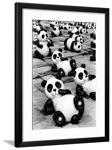 China 10MKm2 Collection - Psychedelic Pandas-Philippe Hugonnard-Framed Art Print