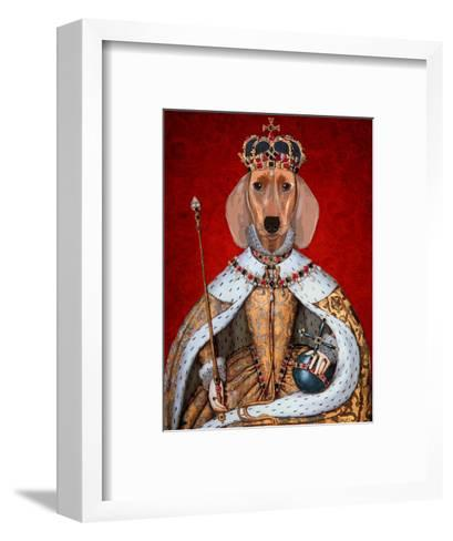 Dachshund Queen-Fab Funky-Framed Art Print