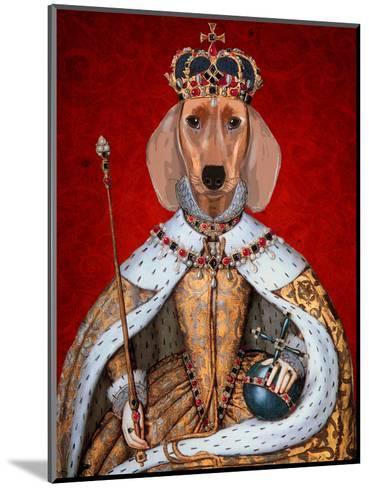 Dachshund Queen-Fab Funky-Mounted Art Print