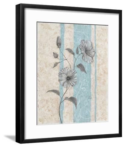 Spa Blue Hibiscus II-Judy Mastrangelo-Framed Art Print