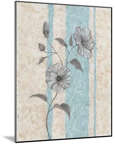 Spa Blue Hibiscus II-Judy Mastrangelo-Mounted Art Print