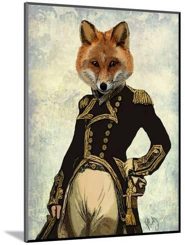 Admiral Fox Full-Fab Funky-Mounted Art Print