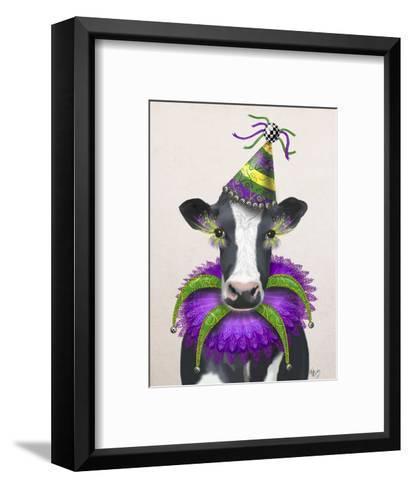 Mardi Gras Cow-Fab Funky-Framed Art Print