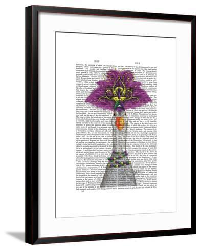 Goose Mardi Gras Headdress-Fab Funky-Framed Art Print