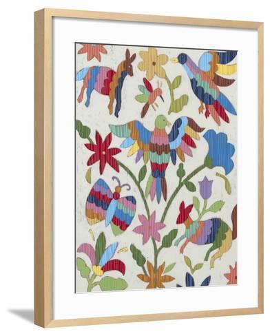 Otomi Embroidery II-Chariklia Zarris-Framed Art Print