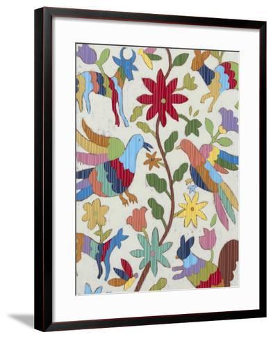 Otomi Embroidery I-Chariklia Zarris-Framed Art Print