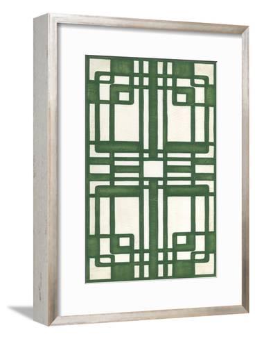 Non-Embellish Emerald Deco Panel II-Erica J^ Vess-Framed Art Print