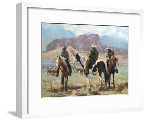 Three Cowboys-Carolyne Hawley-Framed Art Print