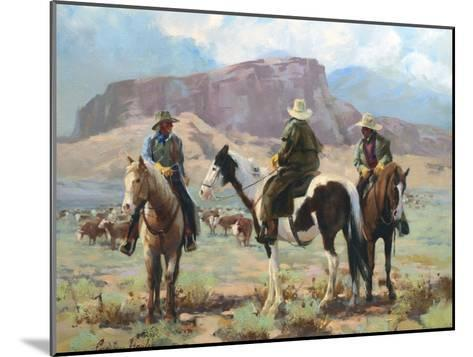 Three Cowboys-Carolyne Hawley-Mounted Art Print