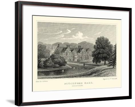 Pitchford Hall-J^p^ Neale-Framed Art Print
