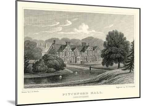 Pitchford Hall-J^p^ Neale-Mounted Art Print