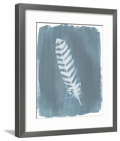 Feathers on Dusty Teal VIII-Grace Popp-Framed Art Print