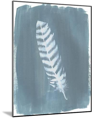 Feathers on Dusty Teal VIII-Grace Popp-Mounted Art Print