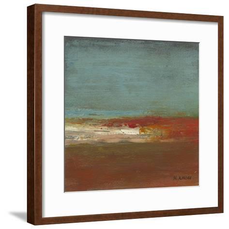 Sea Horizon III-W^ Green-Aldridge-Framed Art Print