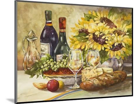 Wine and Sunflowers-Jerianne Van Dijk-Mounted Art Print