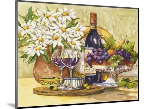 Wine and Daisies-Jerianne Van Dijk-Mounted Art Print