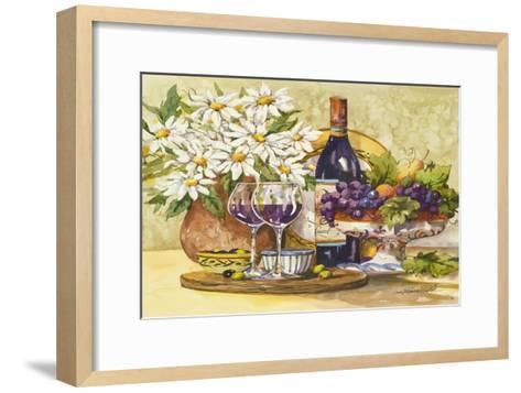 Wine and Daisies-Jerianne Van Dijk-Framed Art Print
