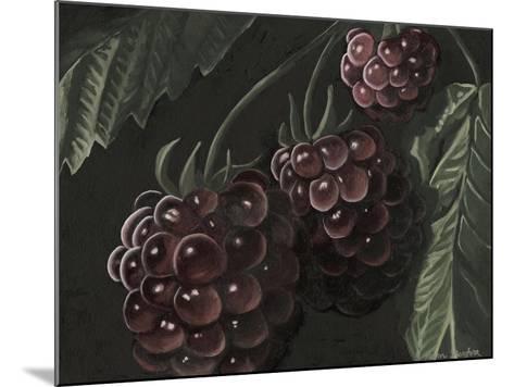 Midnight Raspberries-Megan Meagher-Mounted Art Print