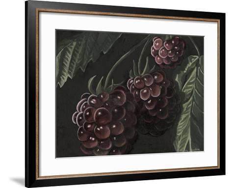Midnight Raspberries-Megan Meagher-Framed Art Print