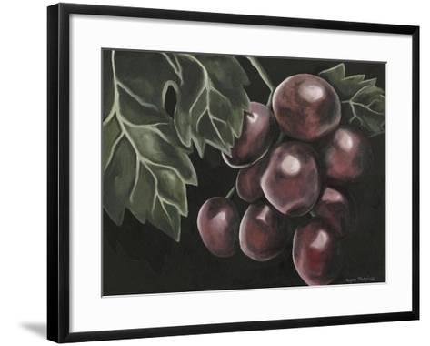 Midnight Grapes-Megan Meagher-Framed Art Print