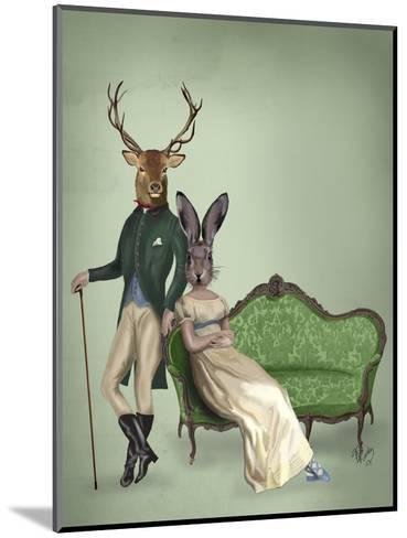 Mr Deer and Mrs Rabbit-Fab Funky-Mounted Art Print