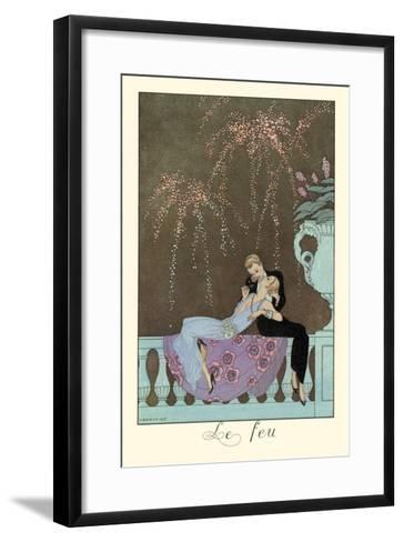 Le Feu-Georges Barbier-Framed Art Print