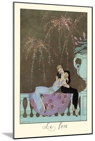 Le Feu-Georges Barbier-Mounted Art Print
