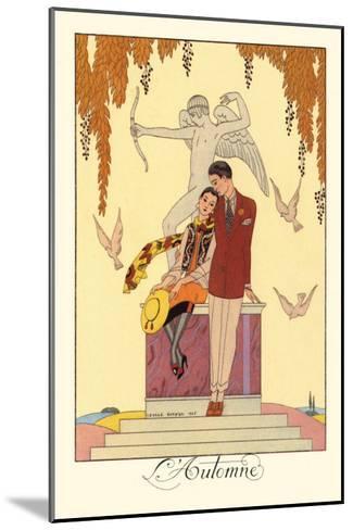 L'Automne-Georges Barbier-Mounted Art Print