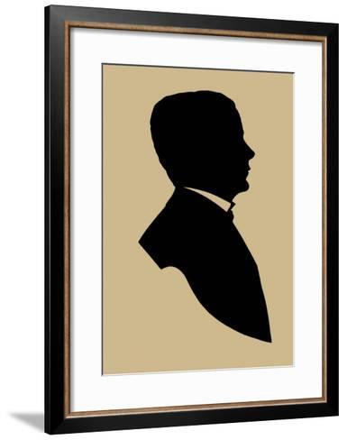 Period Silhouette V-Vision Studio-Framed Art Print