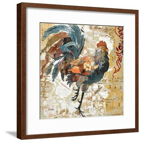 Rooster Flair I-Evelia Designs-Framed Art Print