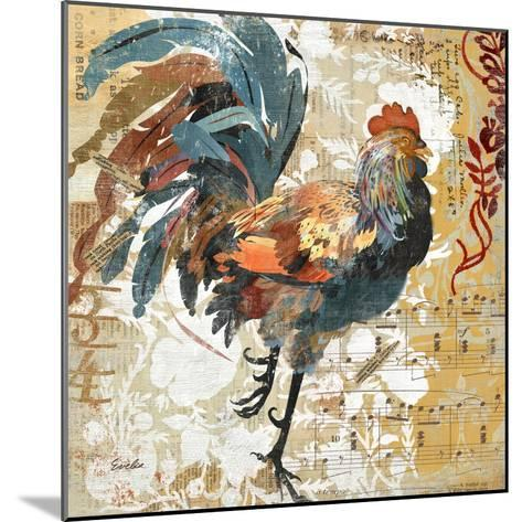 Rooster Flair I-Evelia Designs-Mounted Art Print