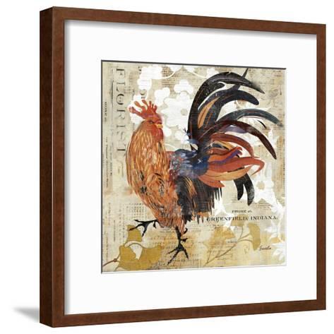 Rooster Flair III-Evelia Designs-Framed Art Print