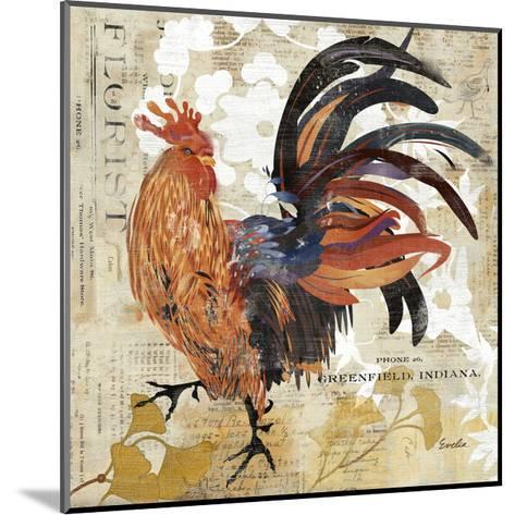Rooster Flair III-Evelia Designs-Mounted Art Print