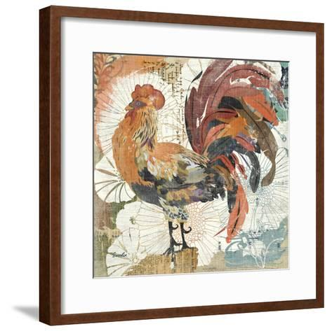 Rooster Flair II-Evelia Designs-Framed Art Print