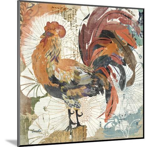Rooster Flair II-Evelia Designs-Mounted Art Print