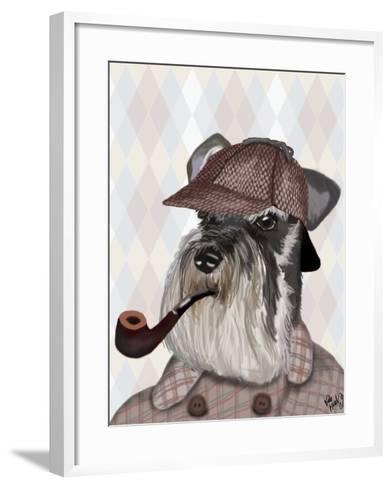 Schnauzer Sherlock-Fab Funky-Framed Art Print