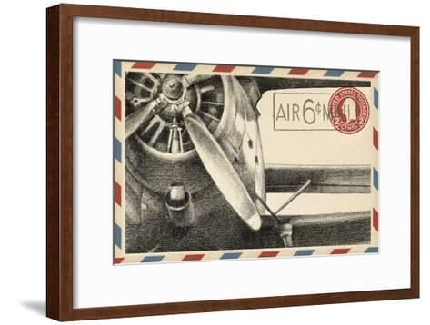 Small Vintage Airmail II-Ethan Harper-Framed Art Print