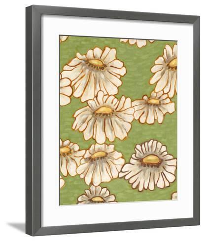 Mums on Green II-Karen Deans-Framed Art Print