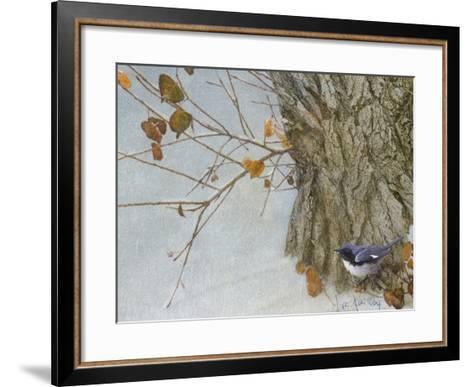 Late Snow Warbler-Chris Vest-Framed Art Print