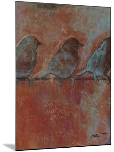 Row of Sparrows II--Mounted Art Print