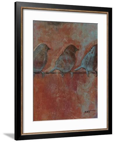 Row of Sparrows II--Framed Art Print