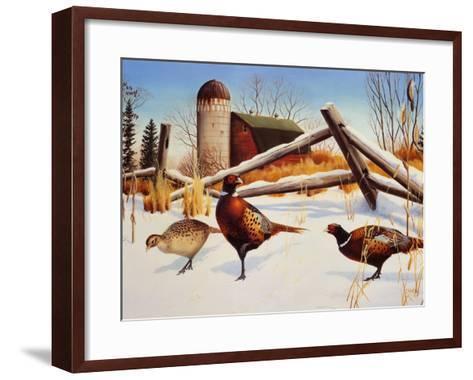 Pheasants II-Leo Stans-Framed Art Print