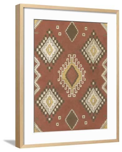 Non-Embellished Native Design II-Megan Meagher-Framed Art Print