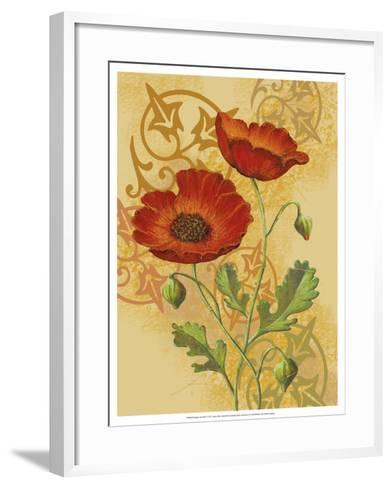Poppies on Gold I-Louise Max-Framed Art Print