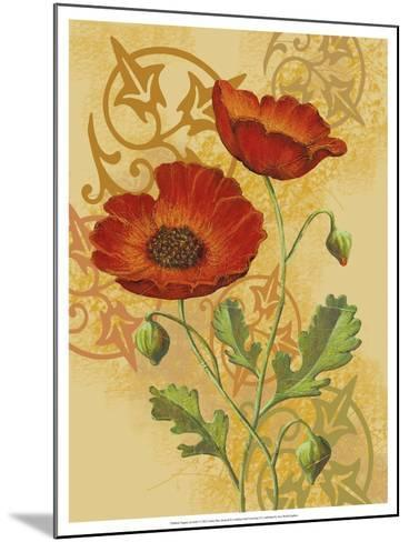 Poppies on Gold I-Louise Max-Mounted Art Print