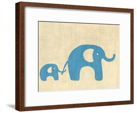 Best Friends - Elephants-Chariklia Zarris-Framed Art Print